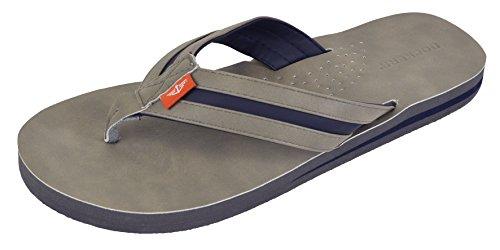 Dockers Heren Jesse Comfort Tweekleurige Flip Flop Sandaal Grijs