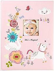 """C.R. Gibson """"She Magical"""" Livro de memórias para bebês rosa para meninas, 48 páginas, 9,"""