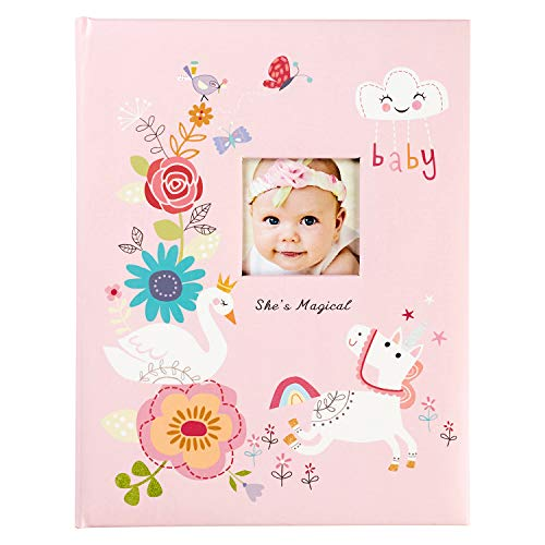 C.R. Gibson ''She's Magical'' Pink Baby Memory Book for Girls, 48 Pages, 9.1'' x 11.5''
