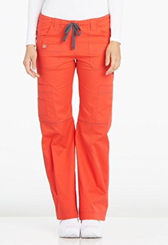 - Gen Flex By Dickies Women's Youtility Drawstring Elastic Waist Scrub Pant X-Large Fiesta