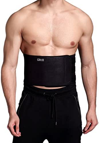 Cotill Waist Trimmer Ab Belt for Men Women - 3 Adjustable Closure Waist Trainer - Stomach Wrap Slimming Sauna Weight Loss Belts and Lower Back Lumbar Support