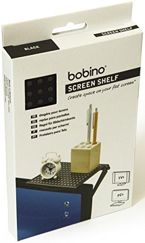 Bobino Screen Shelf Original - Black - Stylish Minimalist Monitor Mounted Organizer ()