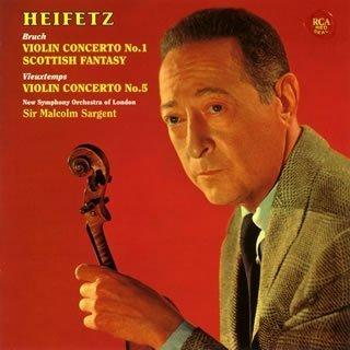 BRUCH: VIOLIN CONCERTO NO.1 & SCOTTISH FANTASY(remaster) by JASCHA HEIFETZ(Vn)