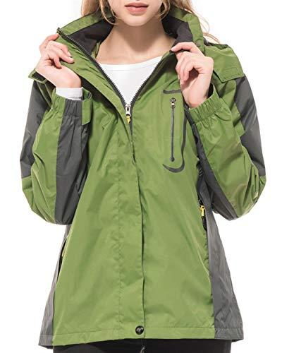 Diamond Candy Hiking Jacket Womens Raincoat Waterproof with Hood Lightweight Rain Jackets for Outdoor