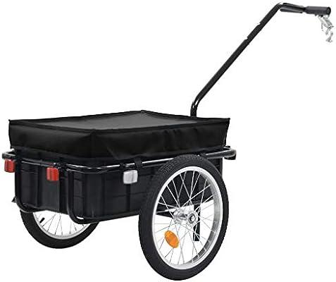 Nishore – Remolque para Bicicleta, Carro de Mano, Remolque de Carga, Remolque de Transporte, Caja de Transporte