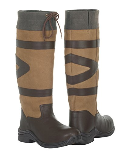 Wasserdichte Lange Toggi Nevada Damen-Country Stiefel Braun - Cedar Brown