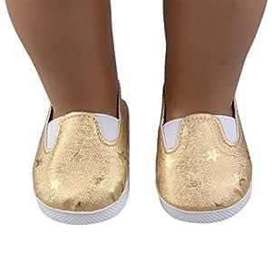18Pulgadas Muñeca muñeca de zapatos accesorios mingfa Glitter Star zapata para vestido de nuestra generación American Girl Doll