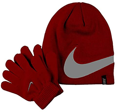 Nike Reflections Cold-weather Preschool Knit Hat and Gloves Set Size 4/7