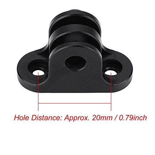Alomejor Bicycle Camera Adapter Mount, Computer Metal Bracket Accessory(Black) by Alomejor (Image #1)