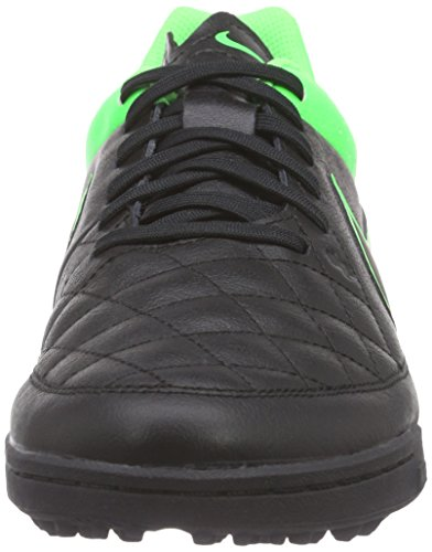 NIKE Leather Shoes Schwarz Strk Strk Black niketiempo Men's Black Black grn Genio grn Football TF qEESYr