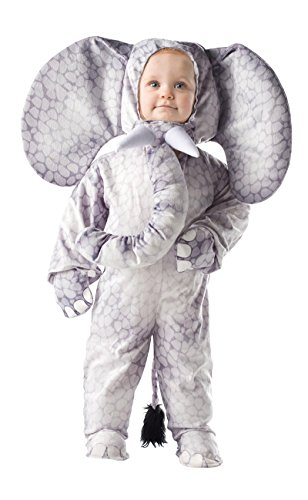 Baby Cuddly Elephant Costumes (Underwraps Baby's Elephant Printed, Grey, Medium)