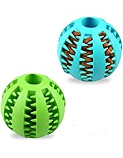 Dog Toy Ball, Interactive Dog Chew Toy Rubber Dog Food Ball,Puppy Teething Toy Dog Food Treat Feeder Tooth Cleaning Ball,Bite Resistant Pet Exercise Interactive Dog Toys