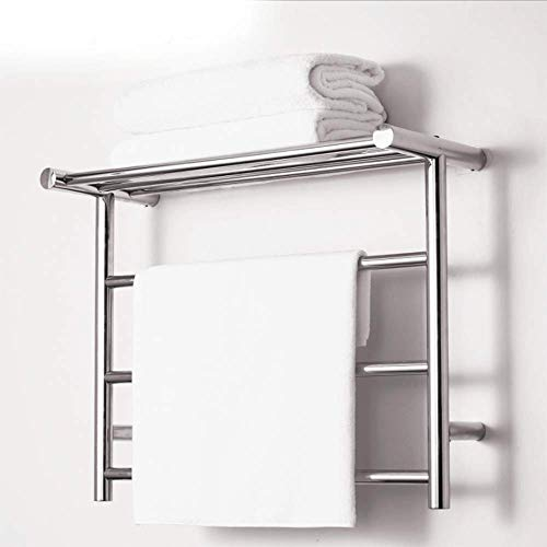 Heated Towel Rail, Bathroom with Heated Towel Rack, Straight Heated Towel Rail Bathroom Radiator,Stainless Steel, 19in