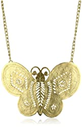 Kenneth Jay Lane Gold Butterfly Necklace