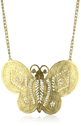 Kenneth Jay Lane Gold Butterfly Necklace ()