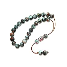 A2-0313 - Prayer Beads Worry Beads Beautiful Glass Beads with Buddha Handmade by Jeannieparnell