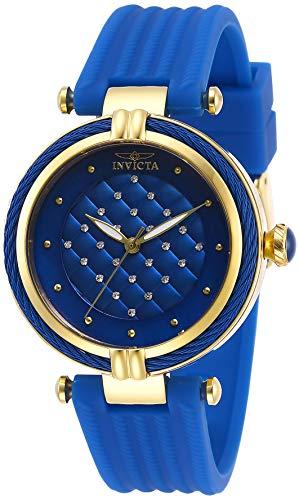Invicta Women's Bolt Stainless Steel Quartz Polyurethane Strap, Blue, 18 Casual Watch (Model: 28945)