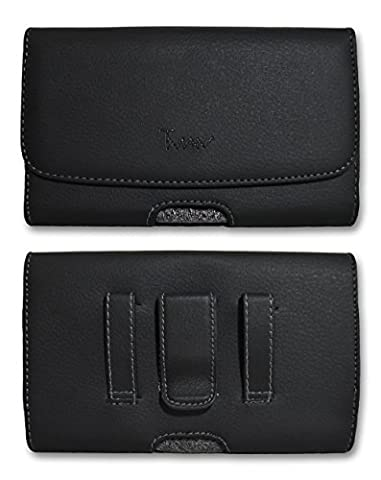 Horizontal [T MAN] Leather Sideways Belt Clip and Belt Loop Case Cover Pouch Holster For Motorola ic402 Blend The Blend ic402 Barrage V860 Sold By - Ic402 Blend