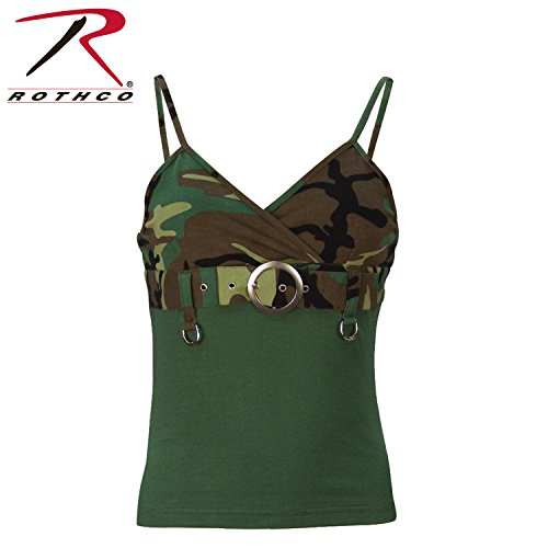 Rothco Womens Woodland 2-Tone Tank Top W/Buckle, X-Small - Scene Buckle
