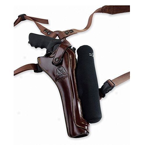 Galco Kodiak Hunter Shoulder Holster (Dark Havana Brown), 8 3/8-Inch S&W X FR 500 with Scope, Right Hand (Best Scope For Smith And Wesson 460)
