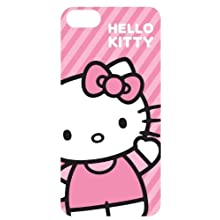 Hello Kitty HK-54609 Striped HardShell Case for iPhone 5 - 1 Pack - Retail Packaging - Pink
