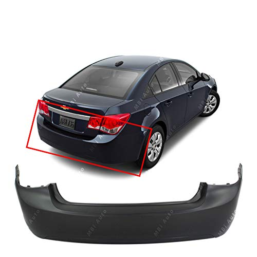 MBI AUTO - Primered, Rear Bumper Cover Replacement for 2011-2015 Chevy Cruze Sedan 11-15, GM1100876