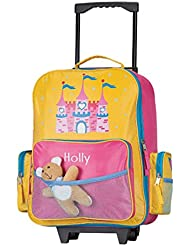 Personalized Girls Princess Rolling Suitcase - Customize with Your Child's Name - Luggage