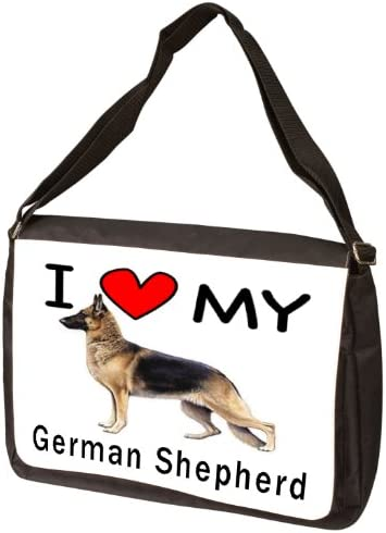 I Love My German Shepherd Laptop Bag – Shoulder Bag – Messenger Bag