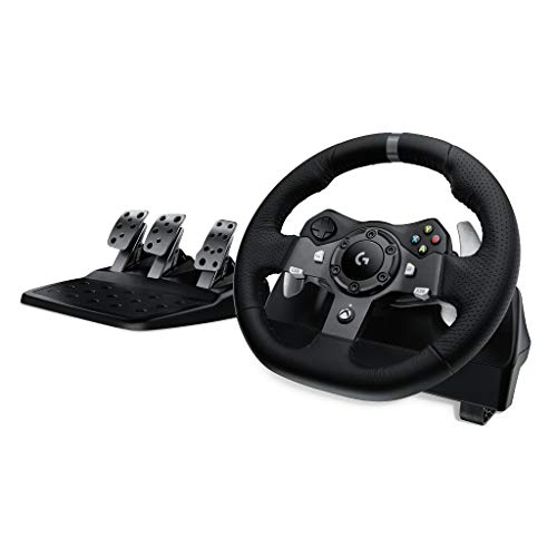 Logitech G920 Dual-Motor Feedback Driving Force Racing Wheel with Responsive Pedals for Xbox One (Logitech Simulator)
