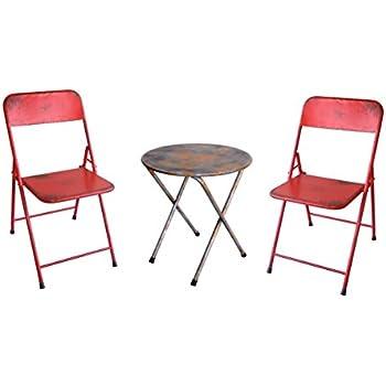Amazon.com: Juego de sillas y mesa rústicas estilo ...
