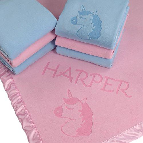 Little One Crib Bedding (Unicorn Baby Blanket Gifts, Little Girls Personalized Girl Nursery Crib Bedding (1 Line of Text))
