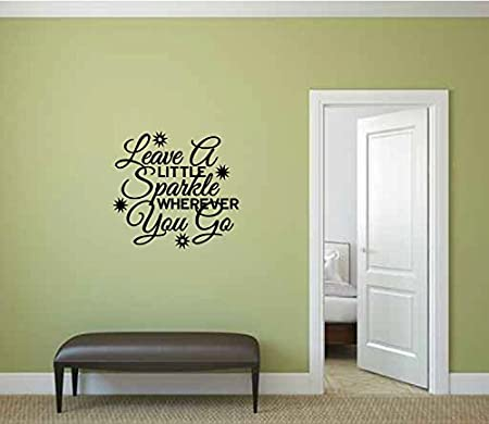 leave a little sparkle wherever you go vinyl wall words decal
