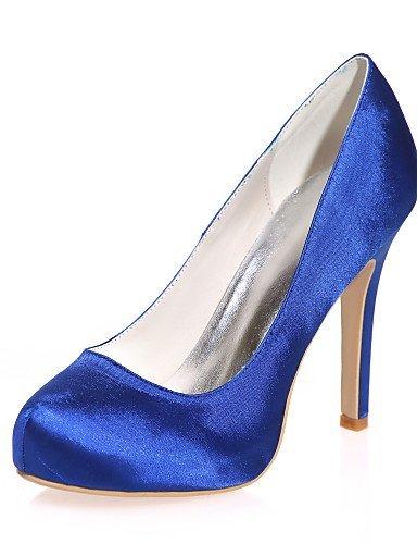 ShangYi Chaussures de mariage - Noir / Bleu / Violet / Ivoire / Blanc / Argent / Champagne - Mariage / Soirée & Evénement - Talons - Talons - , 4in-4 3/4in-blue
