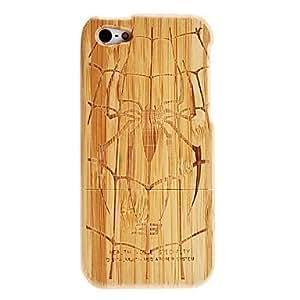 MOFY-Patr—n de ara–a desmontable Caja de madera para el iPhone 5