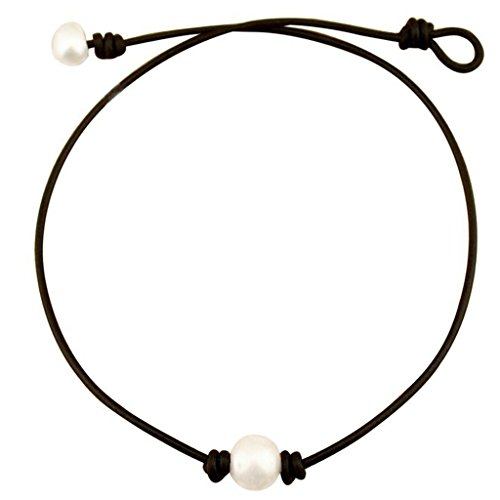freshwater-pearl-leather-cord-choker-for-women-with-single-aa-quality-bead-necklace-natural-handmade