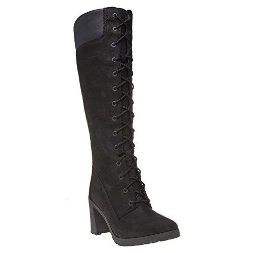 Timberland Womens Allington 14-Inch Black Nubuck Long Boots 6 US