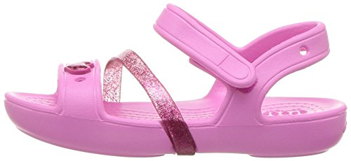 crocs Girls' Lina K Sandal, Party Pink/Candy Pink, 11 M US Little Kid Photo #8
