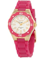 Invicta Womens 1619 Angel White Dial Plum Silicone Watch