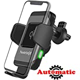 Wireless Car Charger, Lenture 10W Auto Clamp Qi Fast Charger Car Mount Air Vent Phone Holder for iPhone Xs Max/XR/Xs/X/8 Plus, Samsung Galaxy S9 Plus/S8/S8 Plus