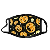 Face Balaclavas Unisex Mouth Cover Dustproof Windproof Anti-Spitting Protective Covering Washable Bandana Halloween Print Scarf Mdsk for Adult (E)