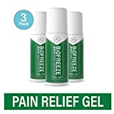 Biofreeze Pain Relief Gel, 3 oz. Roll-On, Fast Acting, Long Lasting, & Powerful Topical Pain Reliever, Pack of 3 (Packaging May Vary)