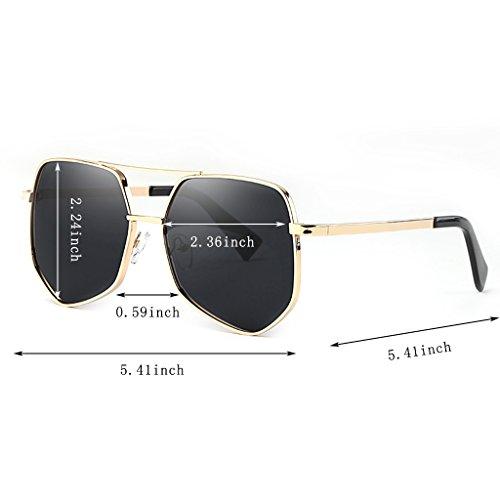 De Gafas De Negro Polarizadas De Sol Color Sol Estilo Personales De Las Negro Sol De Gafas Gafas Los Hombres WANGXIAOLIN Retras 5wzRxIWq