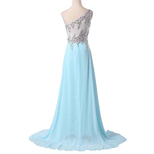 Bridal_Mall - Vestido - trapecio - Sin mangas - para mujer Rosa