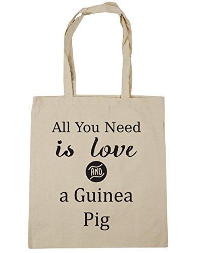Fitnessstudio size You Schwein is 42cm Natürlich Need One Love liter Strandtasche All x38cm Einkaufstasche und HippoWarehouse 10 Guinee Tw0xzpT