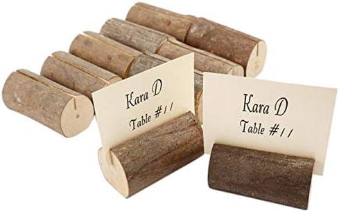 Astra Gourmet - Tarjetero de madera rústica con soporte para ...