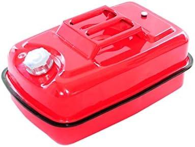 10L-30L車のジェリー缶、携帯用ガソリンタンク、赤い金属のガソリン缶、厚い携帯車のオートバイの予備の燃料タンク (Size : 20L)