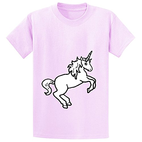 Mcol Unicorn White Teen Crew Neck Print T Shirts Pink