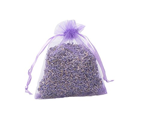 TooGet Organic Lavender Buds Sachets Dry Flowers Deodorant for Home and Office,Drawers,Closets,Car,Travel Relaxing Aromatherapy - Purple 12 Packs