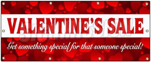 36x96 Valentines Day Sale Banner Sign Sale Holiday Valentine Romantic Love