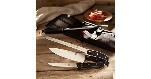 Amazon.com: Profesional jamón Juego de cuchillos con funda ...